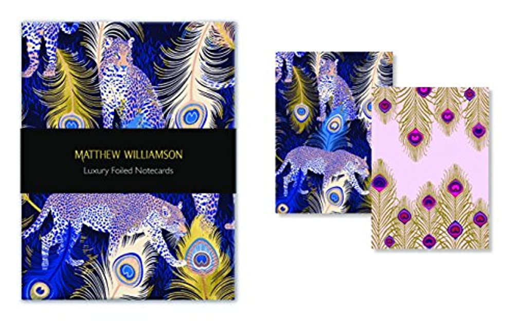Museums & Galleries (MUT38) Matthew Williamson Feather Prints Luxury Foiled Notecards,