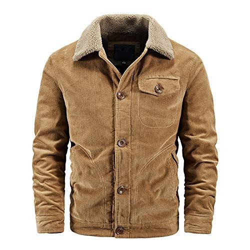 ZXYSMM Chaqueta de pana chaqueta acolchada de herramientas para hombre chaqueta de lana de cordero de invierno chaqueta de algodón de tendencia más terciopelo grueso corto/C/L