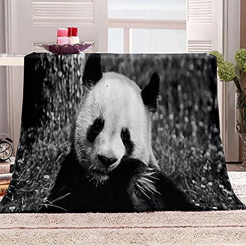 LHUTY Manta de Franela Panda 150x200 cm 3D impresión Manta Polar Microfibra Suave Acogedora Manta, para Adultos y Niños sofá Cama Decorativo Picnic Viajar Manta