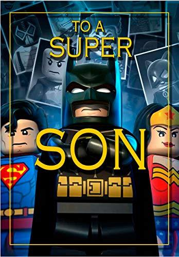 Tarjeta de cumpleaños para hijo – Batman Lego – a todo color en el interior