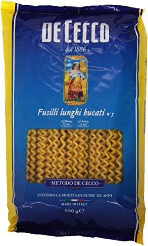 De Cecco - Fusilli Lunghi Bucati, Pasta di Semola di Grano Duro - 4 pezzi da 500 g [2 kg]