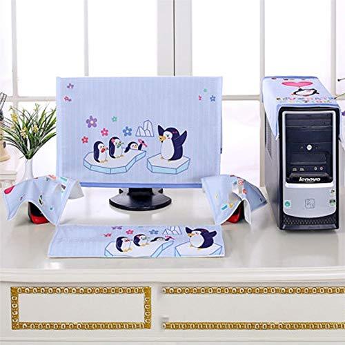 47-B Cubierta antipolvo para teclado de pantalla anfitrión, de tres piezas, tela para el polvo, funda protectora para escritorio (color : I, tamaño: pequeño)