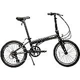 【 快適発想のプレミアム自転車 】超軽量 ZiZZO ジッゾ 20インチ 折りたたみ自転車 シマノ アルミ フレーム 軽量 折り畳み自転車 [国内正規品] (シャイニーブラック ( 10.8kg 8段変速 ))