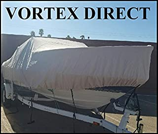"""Vortex New Heavy DUTYTAN/Beige Cuddy Cabin Cover 19`7"""" to 20`6"""" Long, 102"""" Beam 1 to 4 Business Day DELIVERY"""