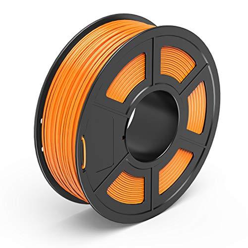 TECBEARS PETG Filamento de Impresión 3D, 1.75mm Naranja, Precisión Dimensional +/- 0.02 mm, 1kg Carrete, 1 Paquete