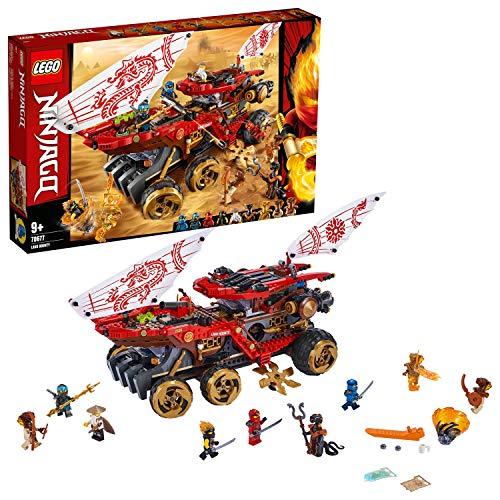 LEGO 70677 NINJAGO Wüstensegler Fahrzeug, actionreiches Set mit Schlangenkönigin, Meister des Spinjitzu Spielset