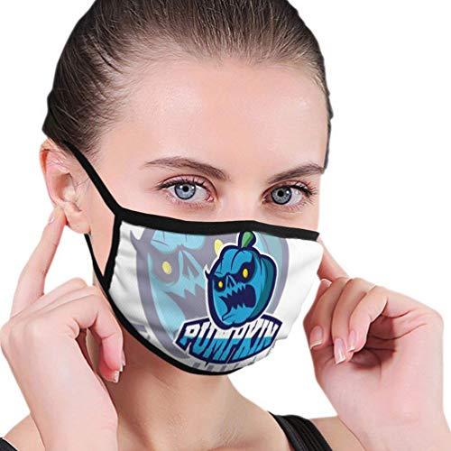 Herbruikbare neushoes, anti-stof warme luchtbeller, half gezicht hoes, logo spellen inspiratie pompoen badge sjabloon sport te verstelbare oor lussen, vrouwen mannen mond hoes, wasbare mondbeschermer