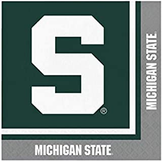 Michigan State Spartans Lunch Napkins, 60 Count