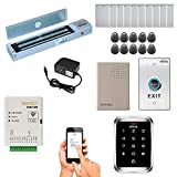 Zemgo FPC-8434 Smart Mobile WiFi Controller for Access Control with Android + Apple App, Web Browser + Smartphone Remote Viewing, Outswing Door 600lbs Maglock, Outdoor Weatherproof Keypad/RFID Reader