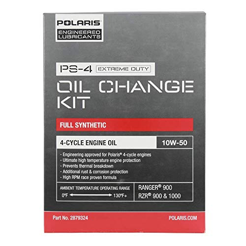 Polaris Full Synthetic Oil Change Kit, 2.5 Qts. of PS-4 Extreme Duty Engine Oil and 1 Oil Filter