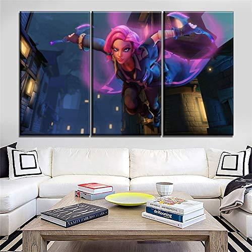 HUAZAI Moderno HD Imprimir Lona Pintura de la Pared Arte de la Pared Juego Paladins Maeve Poster Group 3 Pieza Girl Warrior Imagen Moderna Decoración del hogar Estilo Modular
