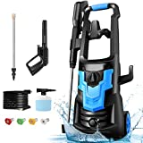 Pressure Washer WHOLESUN 3600PSI Pressure Washer 2.6GPM 1900W Electric Power Washer with 4 Nozzles for Cleaning Cars, Driveways, Garden