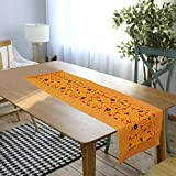 rajwada-fashion Handmade Table Runner Embroided Silk Ethnic Runner Indian Patchwork Floral Design Table and Home Decor for Every Occasion (Yellow) (16x60)