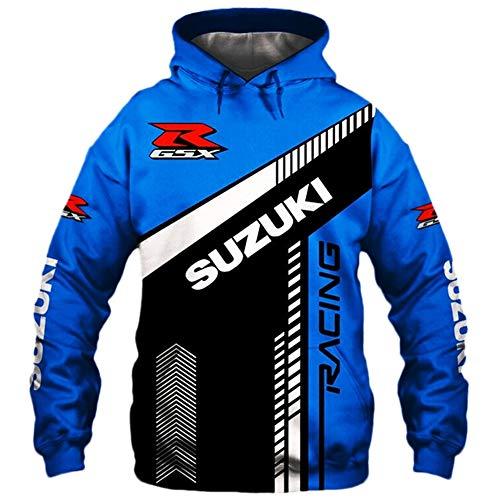 THEBEST BIst Hombres Hoodies Chaqueta por Suzuki-Trucks 3D Impresión Sudadera con Capucha Pull-Over Sudadera-Fan Jersey Leisure / C1 / M