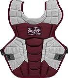 Rawlings Velo 2.0 - Protector de pecho intermedio NOCSAE para receptor de béisbol, cardenal y blanco
