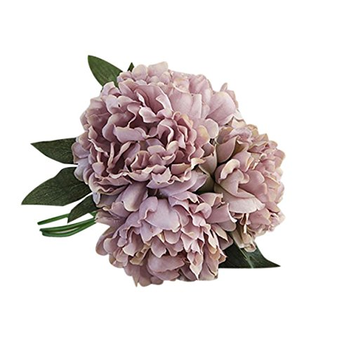 Longra Wohnaccessoires & Deko Kunstblumen Künstliche Seide Kunstblumen Pfingstrose Blumen Hochzeit Bouquet Braut Hortensie Dekor (Pfingstrose 02C: 1 Strauß)