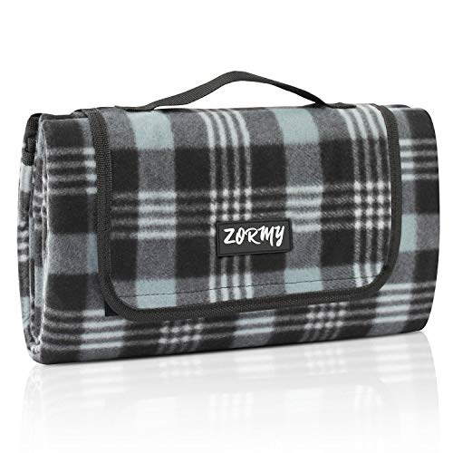 %20 OFF! ZORMY Extra Large Picnic Blanke Waterproof Beach Handy Mat Black and White Checkered Campin...
