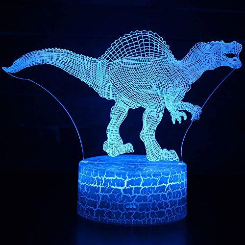 3D Illusion Nuit Lumière Win-Y LED Bureau Table Lampe 7 Couleur Tactile Lampe Maison Chambre Bureau Décor pour Enfants D'anniversaire De Noël Cadeau (Dinosaure I)