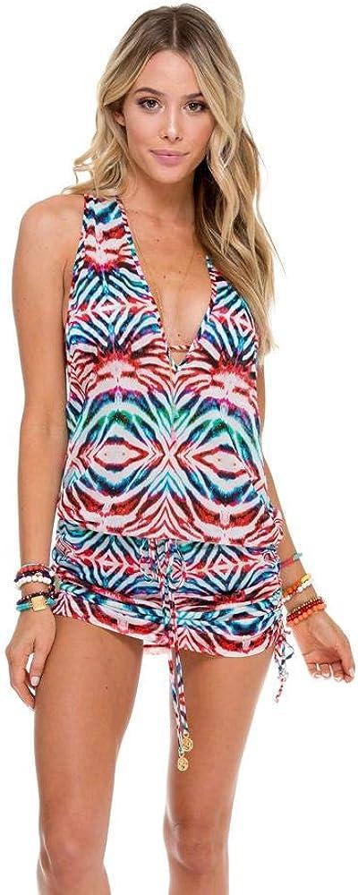 Luli Fama Like A Flame - T Back Mini Dress - S/Multicolor