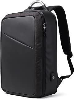 GLJ Backpack Male Large Capacity Laptop Bag Business Men Backpack Multifunctional Travel Bag Backpack (Color : Black)