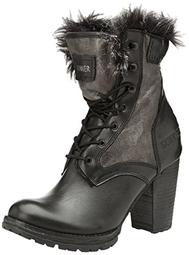 Bunker Maja, Boots Femme - Noir (Black), 38 EU