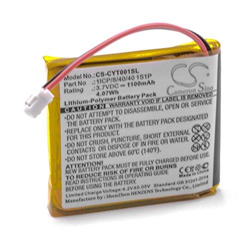 vhbw Li-Polymer Akku 1100mAh (3.7V) passend für GPS Navigation Navi Coyote Plus S