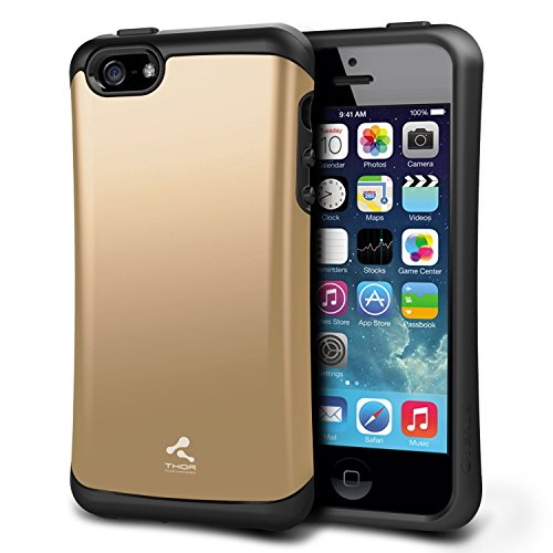 iPhone 5S Case, Verus [Thor][Shine Gold] - [Military Grade Drop Protection][Natural Grip] For Apple iPhone 5S