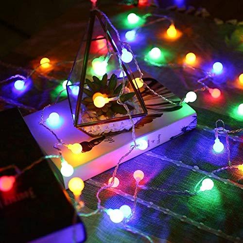 Luz de cadena de bola LED Bombilla de luz de Navidad Decoración de luz Fiesta de jardín Decoración de vacaciones Cadena de luz Batería Multicolor 2m10 leds