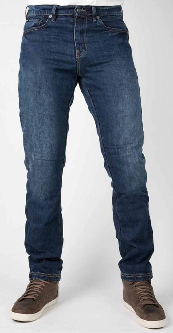 30 bull-it SR6 Vintage 17 DROIT covec Moto PANTALON JEANS Bleu - Bleu long