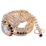 Baluue Reloj de Cuarzo Brillante Reloj de Cadena Bling con Diamantes...