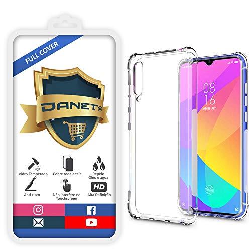 Kit Capa E Película Para Xiaomi Mi 9 Lite Tela De 6.39Polegadas Capinha Case Transparente Air Anti Impacto e Película De Vidro Temperado 3d