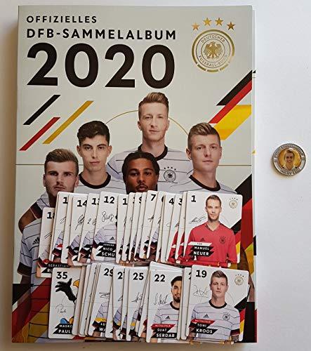 Rewe EM 2020 DFB - Sammelkarten - Album mit Allen 35 Verschiedene Normale Karten + 1 Fußballmünze der WM 2006 - Philipp Lahm