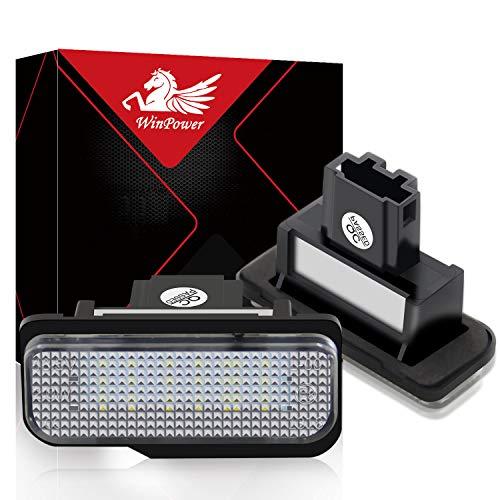 WinPower Fehlerfrei LED Lizenz Kennzeichenbeleuchtung Montage Bright Weiß Lampen Leuchtmittel, 2 Stücke