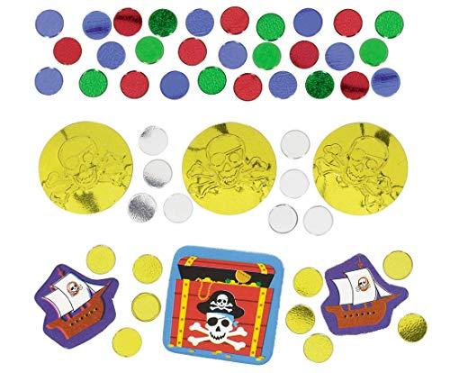 amscan Pirate trésor de confettis de Lot de 3