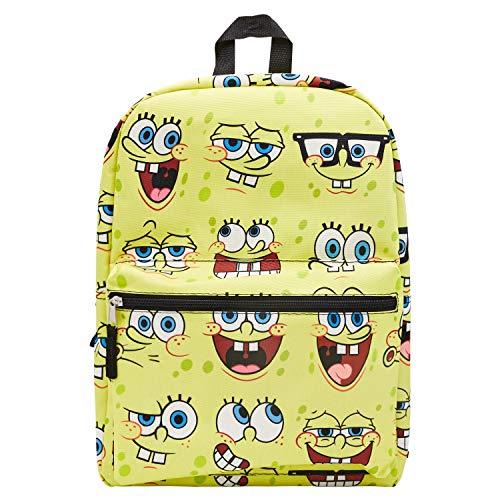 Spongebob Squarepants Allover Print Backpack - Spongebob Squarepants Allover Backpack Set - Spongebob, Squidward, Patrick and Mr. Krabs (Spongebob Allover)