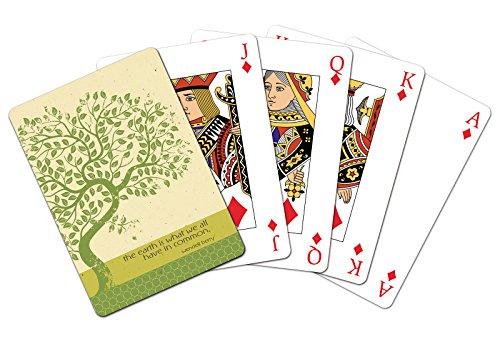 Tree-Free Greetings 49590 Earth Tree Playing Card Deck