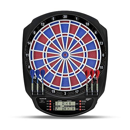 Dartautomat mit 1 großen LCD Screen und 2 XO Cricket Anzeigen. 1-8 Spieler, Traditionelle Segmentfarben mit 2-Loch Double/Triple Segments. 43 Spiele und 320 Variationen.