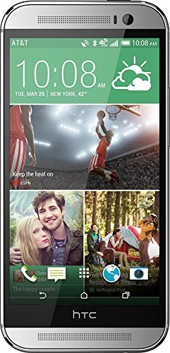 HTC One M8 32GB 4G LTE Unlocked GSM Android Cell Phone - Silver