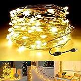 LEDストリングライト イルミネーションライト ワイヤーライト 120LED球 12M USB式 フェアリーライト 写真クリップ 電飾 防水 新年 クリスマス 結婚式 パーティー 誕生日 飾りライト