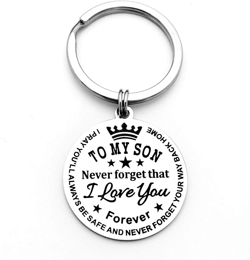 Cheap sale To My Son Daughter Keychain Never Forever Financial sales sale That You I Love Forget