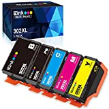 E-Z Ink (TM) Remanufactured Ink Cartridge Replacement for Epson 302XL 302 T302XL T302 to use with Expression Premium XP-6000 XP6000 Printer (5 Pack)