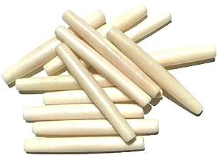 Dangerous Threads Genuine Hairpipe Bone; Ivory White, 2 inch Long; 20 pcs Hair Pipe Choker Beads