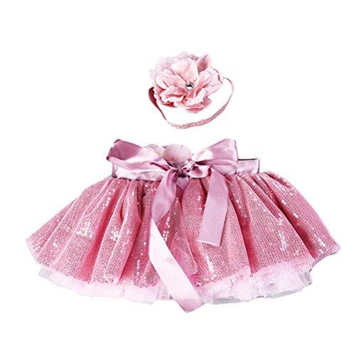 FENICAL Elegante eenhoorn-jurk voor pasgeborenen baby, met haarband en bloem