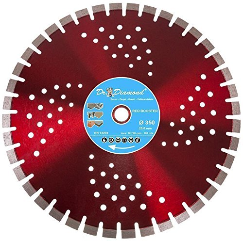 Dr. Diamond® Diamanttrennscheibe 350 Red Booster Ø 350 mm Bohrung 25,4 mm