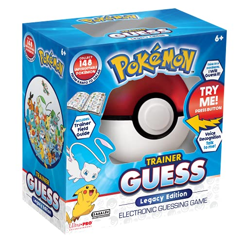 Pokemon Trainer Guess Legacy's Edition Toy, I Will Guess It! Electronic Voice Recognition Guessing Brain Game Pokemon Go Digital Travel Board Games Toys