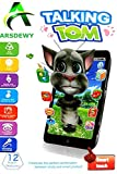 ARSDEWY Mobile Talking Tom Interactive Learning Tablet for Kids (Assorted Colors)