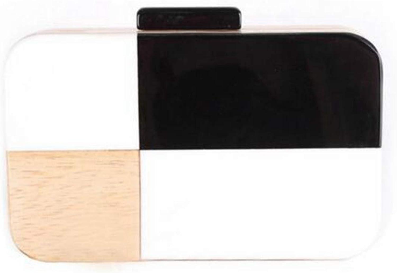 Mini-Geldbörse Damen Acryl Clutch Classic Holz Holz Holz Abendtasche Handtasche Mini Crossbody Bag Mini Small Cute Geldbörse (Farbe   Wood) B07PY3C7ST  | Ab dem neuesten Modell  2d1e7a