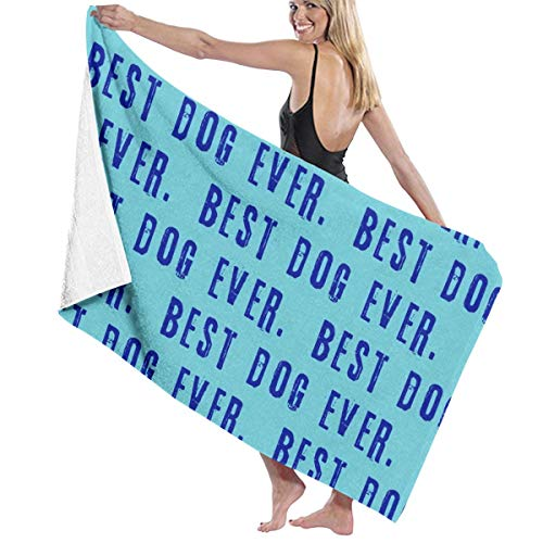Best Dog Ever (1) Men and Women Wrap, Shower & Bath, Terry Spa Towel(32inch X 52inch)