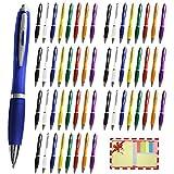 Projects 56er Set edle Kugelschreiber - Mega Set für Büro & Haushalt - trendig & farbenfroh - Schreibset für die ganze Familie - gummierter Griff für den optimalen Komfort & Halt
