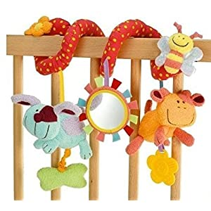StillCool Juguetes Colgantes Espiral de Animales, Bebé Infantil Cuna Juguete Colgando Sonajeros Espiral para Cuna…
